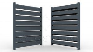 Segmentinės skardinės tvoros. Tvoros segmentas Rombas 4D 60/120