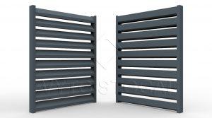 Segmentinės skardinės tvoros. Tvoros segmentas