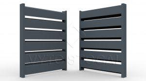 Segmentinės skardinės tvoros. Tvoros segmentas Rombas 4D 80/158