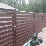 Skardinių tvorų montavimas. Segmentinės tvoros. Skardinės tvoros. Tvoros segmentas Rombas 4D 60/120